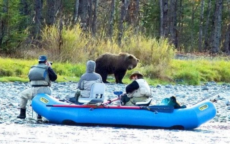 Grizzly-photographers-raft-RonLevy-approach-bears-avoid-attack-RonLevy-Alaska-Photo-Adventures